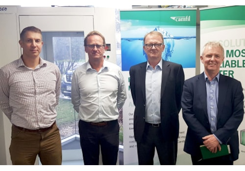 From left, Kristian Kirwin, National Engineering Manager, Airepure, Roger Van Oosten, CEO, Airepure, Alan O'Connell, President Asia Pacific, Camfil, and Bill Wilkinson, Managing Director UK, Camfil