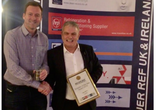 Paul Mottram of National Refrigerants, left, with John Billson