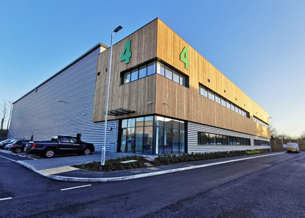 The new Brymec distribution centre near Gatwick