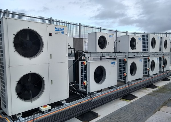 Condensing units on site at Pioneer Foods