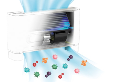 The ionisation effect takes place locally in the air flow managed by Aermec's FCZ H fan coil