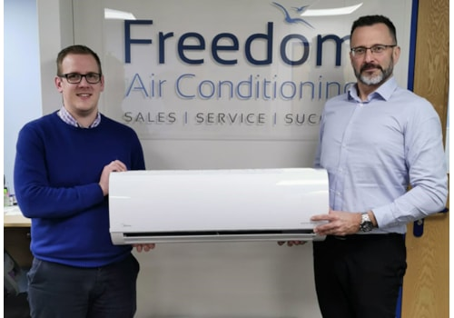 Sam Hughes and Gary Spicer of Freedom Air Conditioning