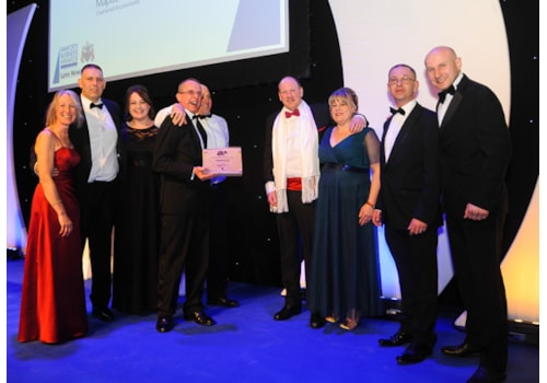 Klimatech collects the Small Business Award at the Mayor's Business Awards in King's Lynn