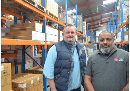 iXus MD Neil Desmier with, left, Technical Sales Manager Mike Carter