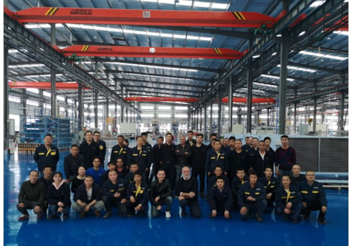 The LU-VE team at the plant in Tianmen, China