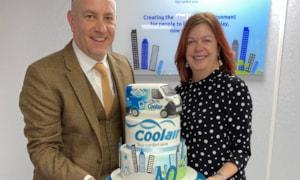 Coolair MD Neil Gibbard with Finance Director Helen Sharratt