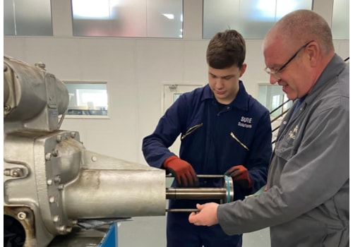 Apprentice Engineer Kieran Sherlock with Senior Industrial Engineer Andy Gillies
