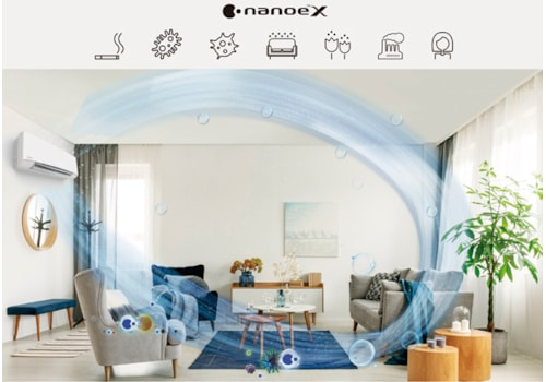 The nanoe X technology comes as standard in Panasonic's residential Etherea air conditioning range