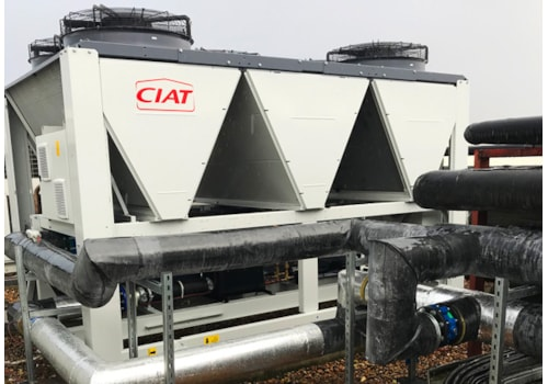 The new CIAT chiller on the rooftop at Pentland Brands