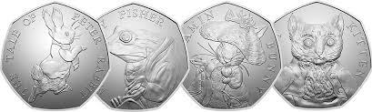 Beatrix Potter 50p coins 2017