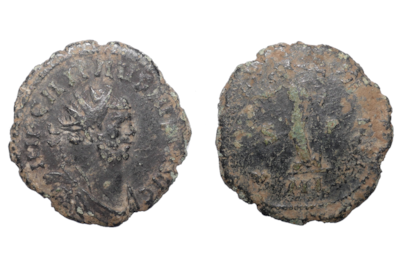 Copper alloy radiate coin of Emperor Carausius from Headbourne Worthy, Hampshire. Roman Britain AD 286–293 © The Trustees of the British Museum