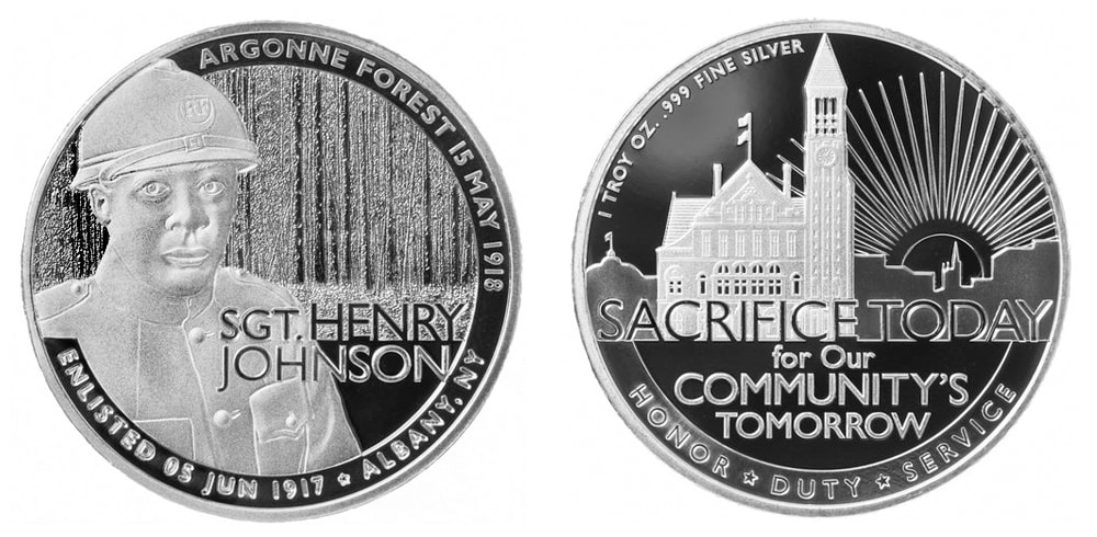Final minted silver coin design