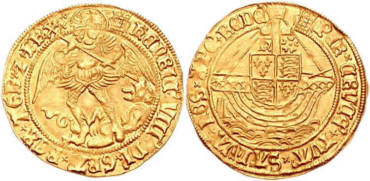 Henry VIII gold angel coin