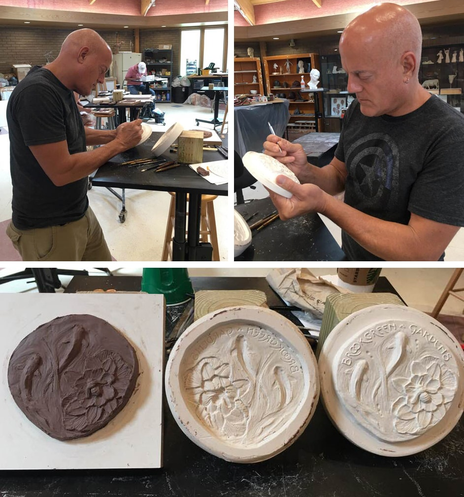 Positive clay model transfer to negative plaster, then to positive plaster model
