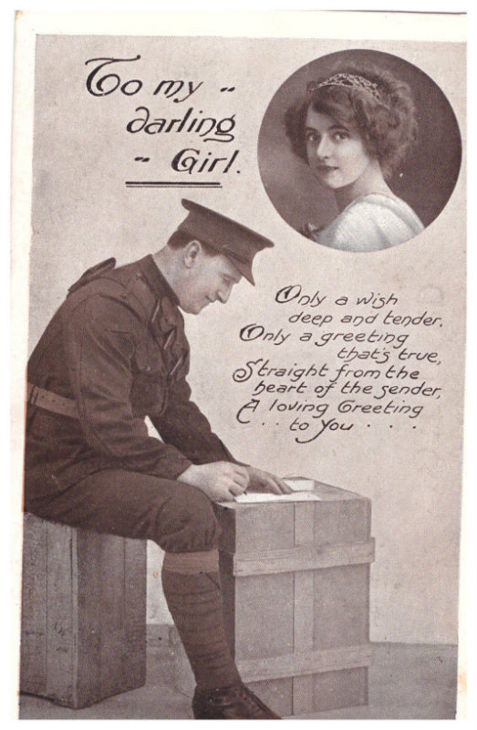 Soldier writing a letter