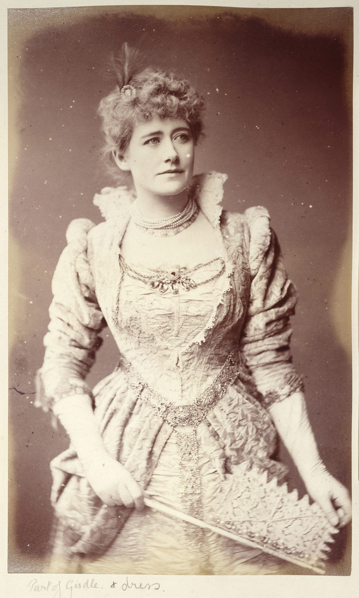 Ellen Terry as Beatrice in her costume for the church scene in Much Ado About Nothing; (C)National Trust