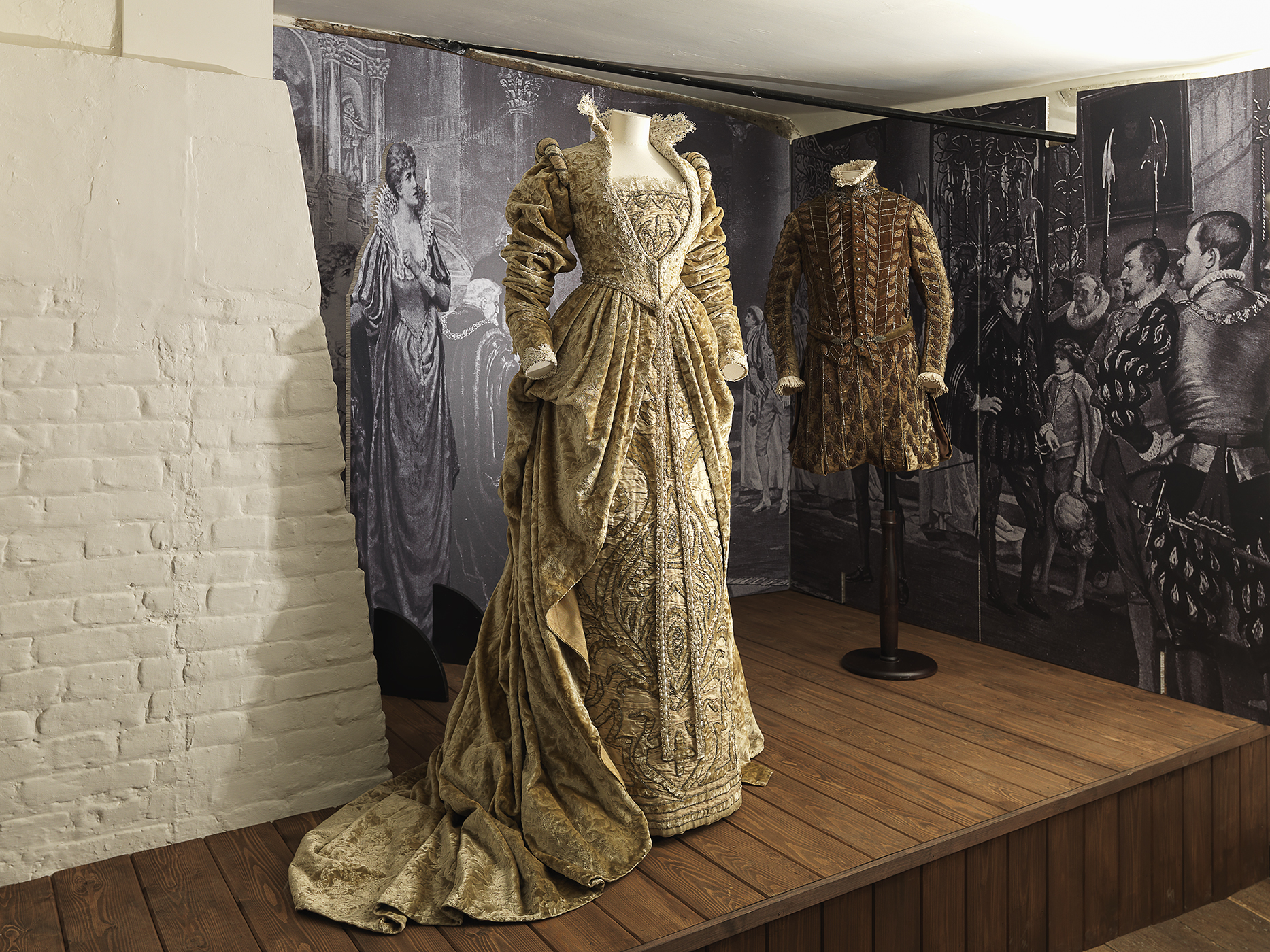 Ellen Terry's and Henry Irving's costumes from the church scene in Much Ado About Nothing, NT Images-David Brunetti