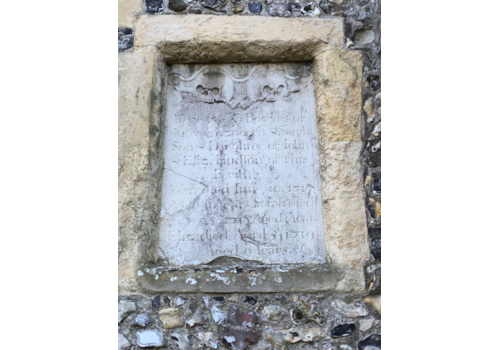 External-wall-memorial-Wye,-Kent.-A-memorial-may-not-lie-directly-over-the-gravesite-itself.-17922.JPG