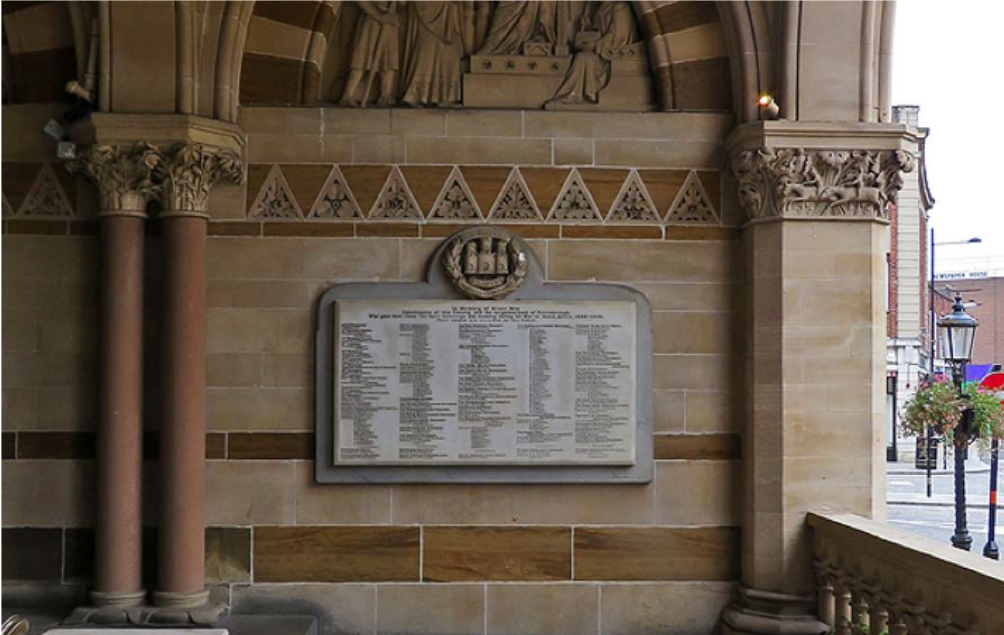 Wartime memorial Northampton Guildhall