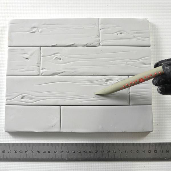 Painted wood cake texture planks