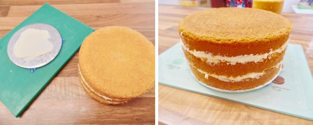 layering Madeira cakes