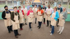 WARNING: Embargoed for publication until 00:00:01 on 16/08/2016 - Programme Name: The Great British Bake Off 2016 - TX: n/a - Episode: n/a (No. n/a) - Picture Shows: **NOT FOR PUBLICATION BEFORE 00:01 HOURS TUESDAY 16TH AUGUST 2016** (L-R) Rav, Tom, Kate, Lee, Val, Candice, Benjamina , Michael, Selasi, Jane, Andrew & Louise - (C) Love Productions - Photographer: Mark Bourdillon