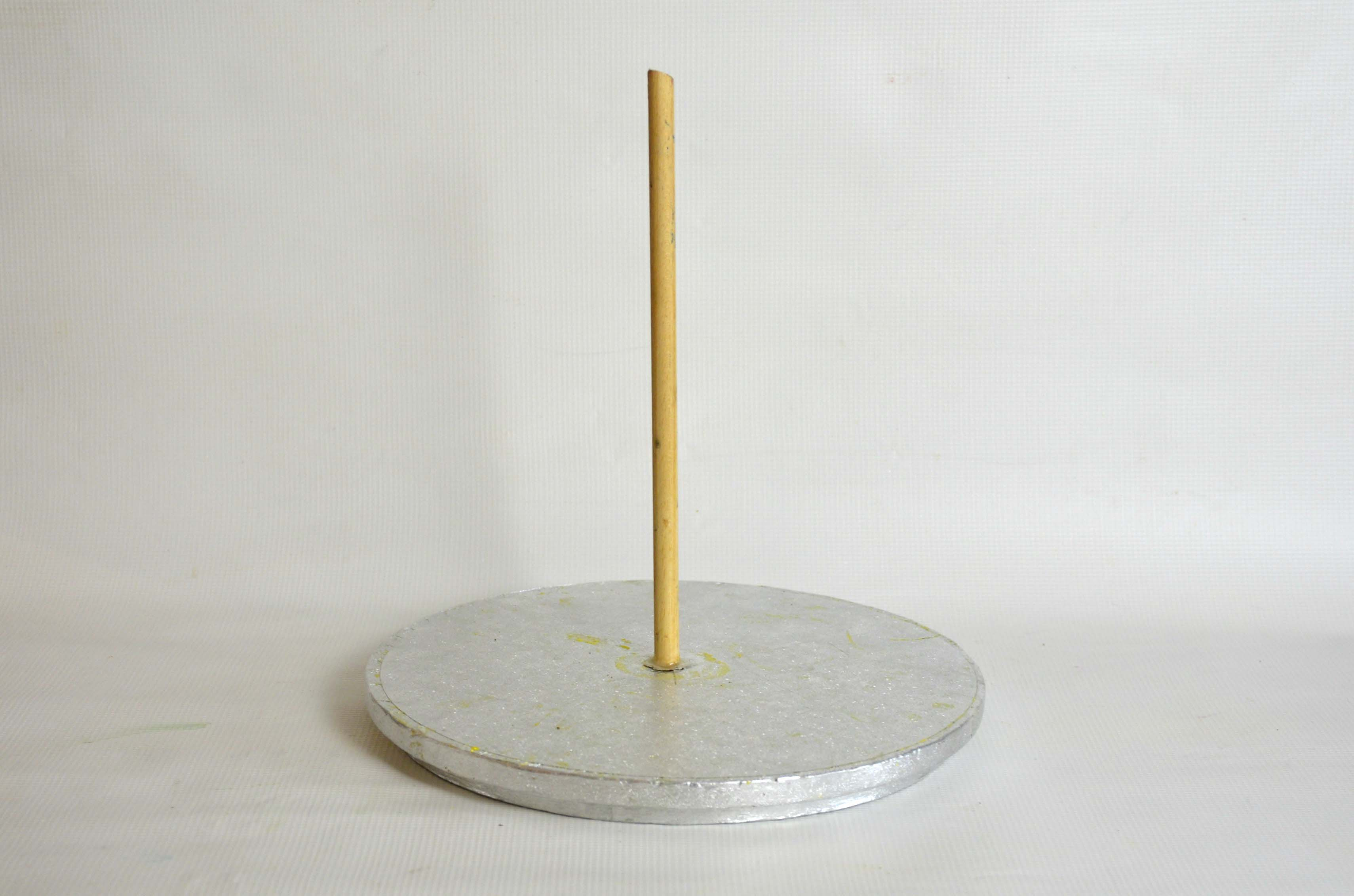 Cake and wooden dowel