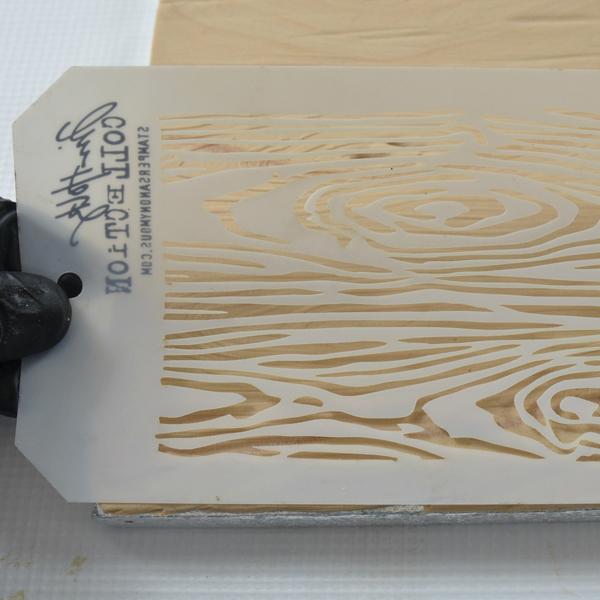 natural wood grain cake stencil