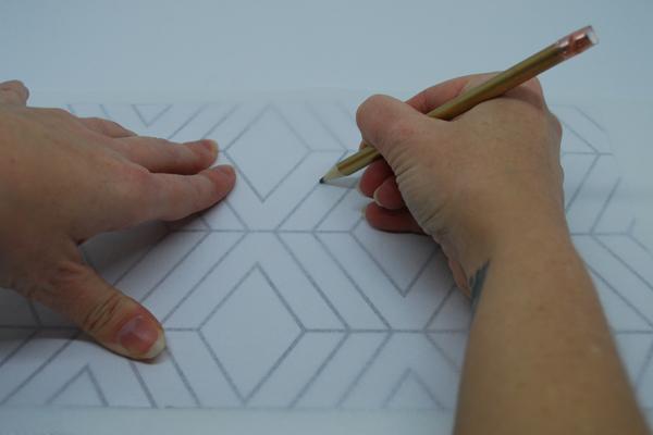 tracing geometric cake template