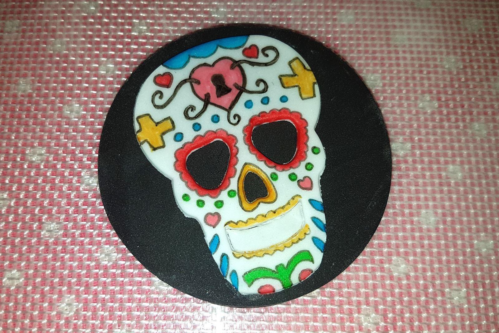 Sugar skull step 11