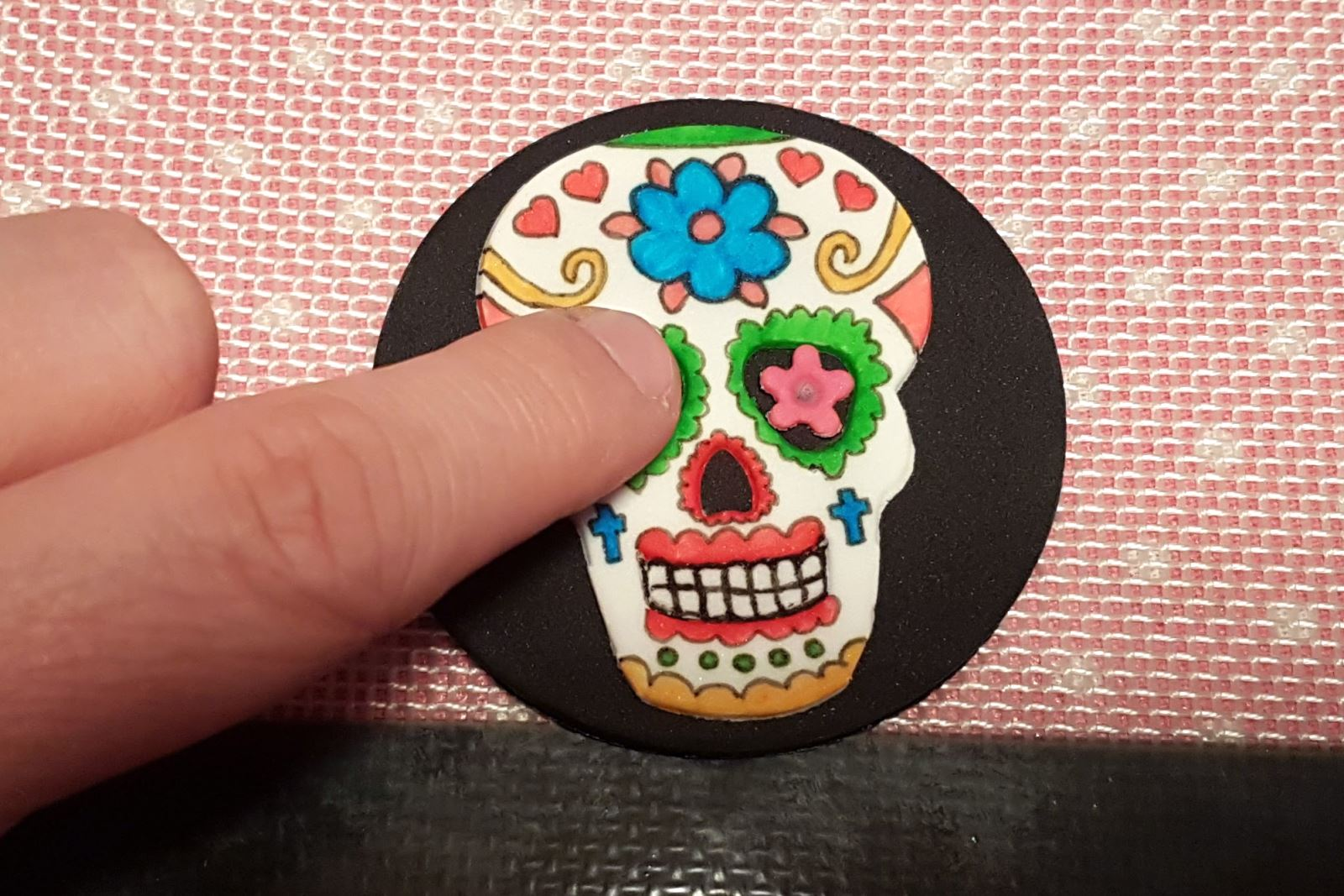 Day of the Dead Halloween Cupcakes step 27