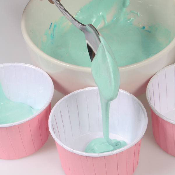 Add Colour Splash Gels to cupcake batter