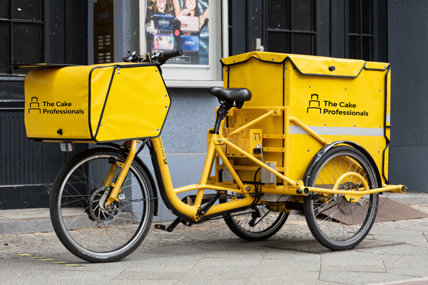 The Cake Professionals delivery bike