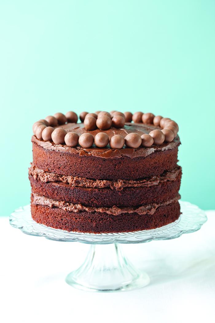 Malt chocolate cake