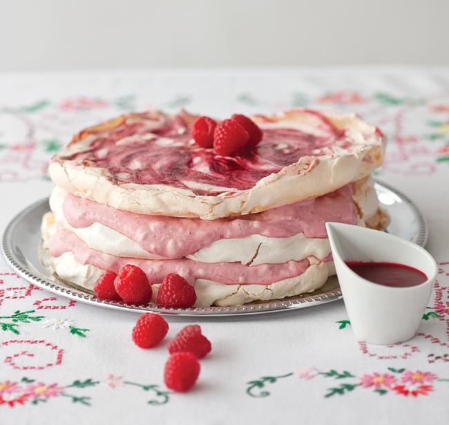 raspberry meringue gateau