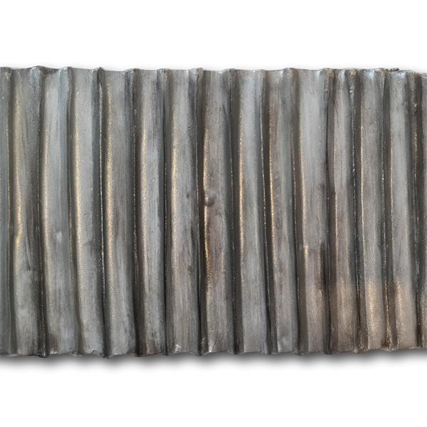 finished corrugated metal cake effect