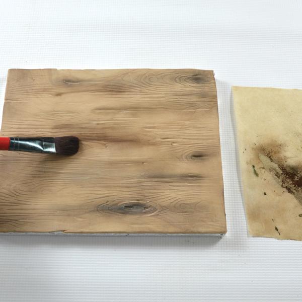 petal dusts to enhance wood grain cake texture