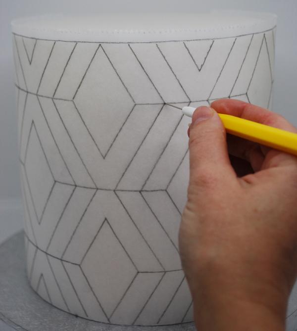 scribing geometric template