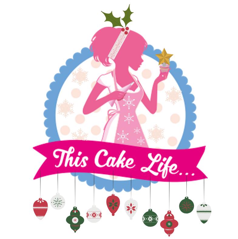 this cake life christmas logo