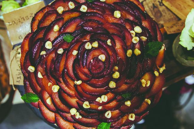 Large Spiced Plum Cake