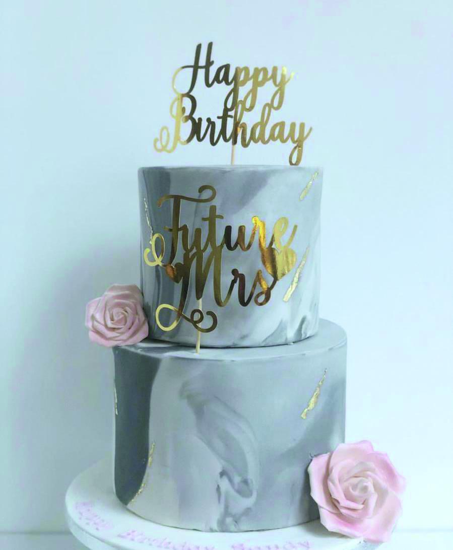 Custom mirror cake lissielou
