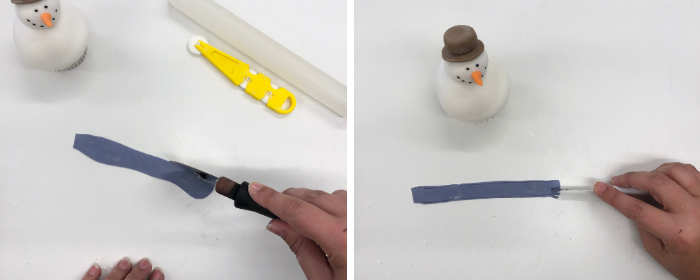 Sugarpaste snowman instruction 6