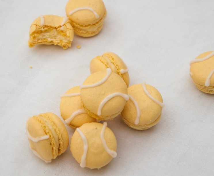 Iced, Tennis Ball Shaped Macarons