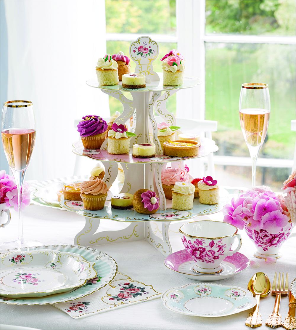 chintz design cupcake stand