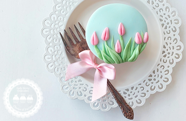 Tulip Fields cupcake toppers