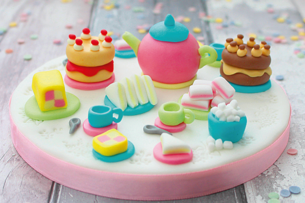 Afternoon Tea cake toppers