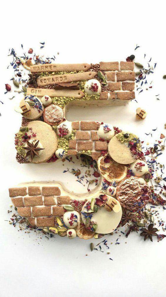 Brick 5 number cake