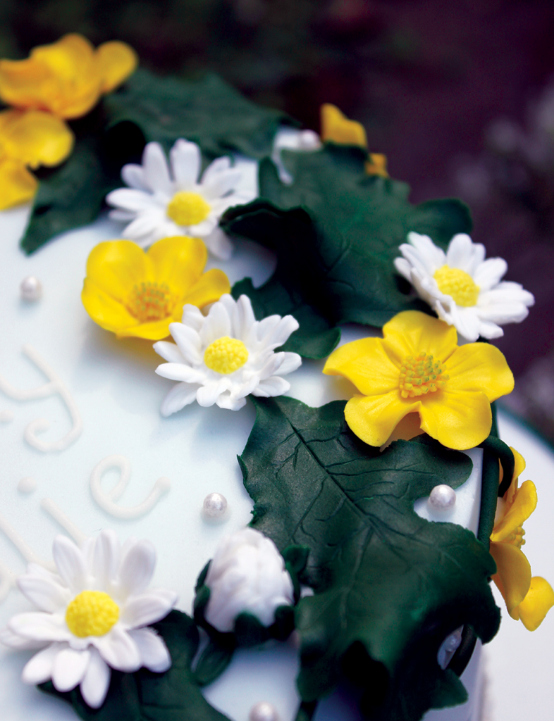 Buttercup daisy cake