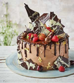 Great British Bake Off chocolate drip cake