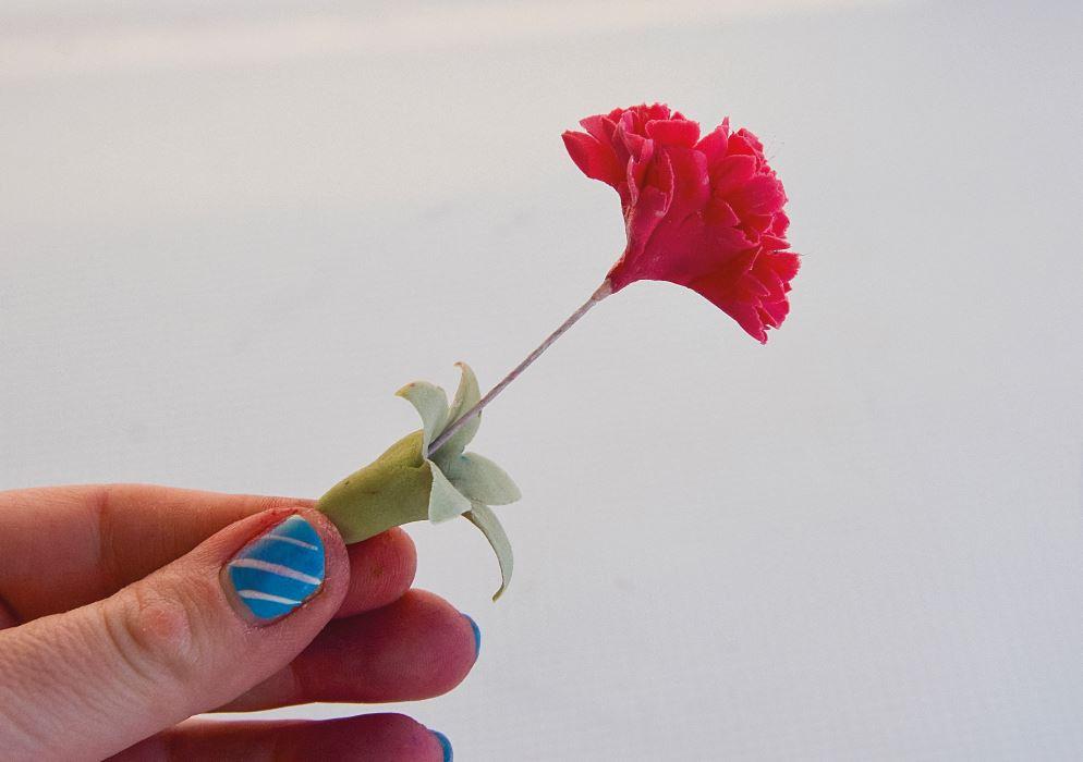 Sugarpaste Carnations step 10